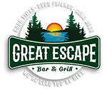 Great Escape Bar & Grill Phelps, Wisconsin logo.
