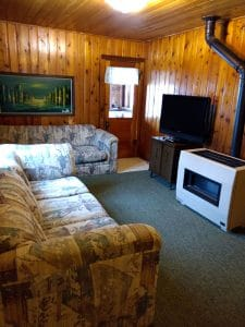 North Twin Lake cabin 1 living room.